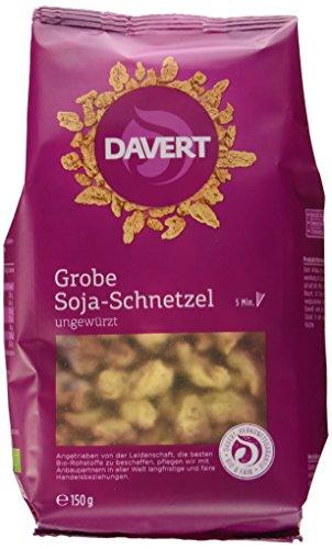 Davert Grobe Soja-Schnetzel, 6er Pack (6 x 150 g) - Bio