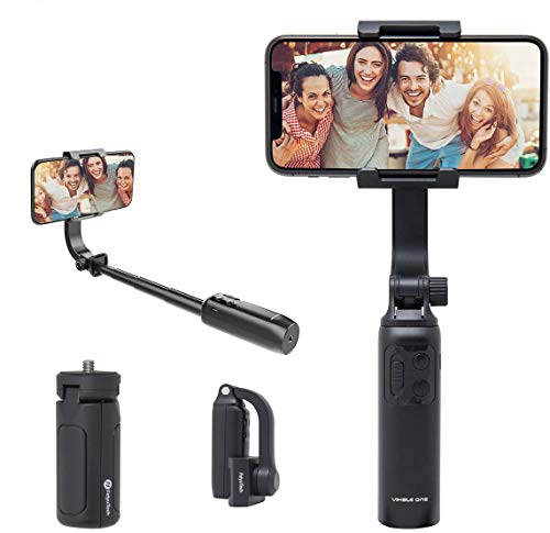 FeiyuTech 1-Axis Gimbal Stabilizer for iPhone Android Smartphone,Folding and Selfie Stick Function,Gesture Control to Take Pictures 186g (Vimble One)