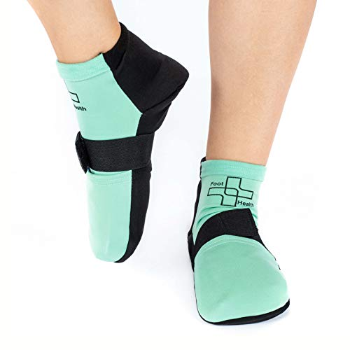 Cold/Hot Therapy Socks - 6 Gel Packs/Pair - Compression Strap Plantar Faciitis - Arch Support - Foot Pain Relief - Neuropathy - Achilles - Storage Bag – for Woman/Man - Foot Health (Large)