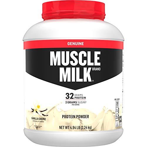 Muscle Milk Genuine Protein Powder, Vanilla Creme, 32g Protein, 4.94 Pound, 32 Servings
