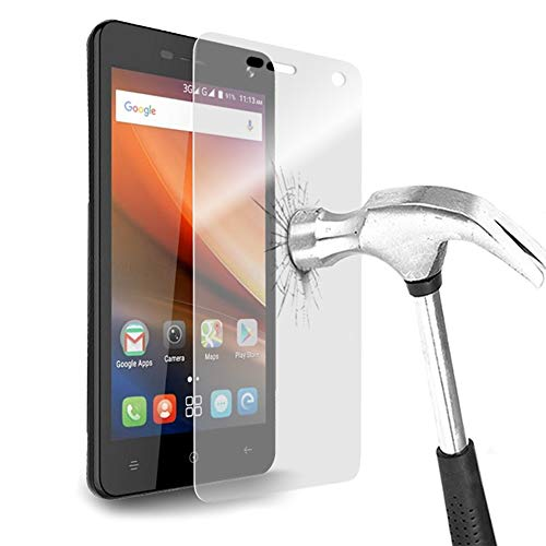 Karylax Bildschirmschutzfolie aus Hartglas Nano, flexibel, bruchsicher, Festigkeitgrad 9H, ultradünn 0,2 mm & 100 prozent transparent, für Smartphone Medion Life P5004 (2 Stück)