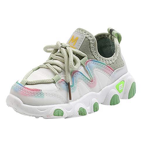 Berimaterry Calzado de Deportes de Exterior de niña niños Zapatos de Cordones...