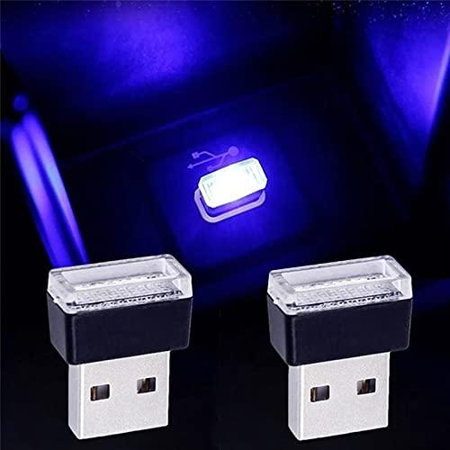 LT Sport USB LED Car Interior Light Blue Atmosphere Lamp Interface Plug-in Miniature Night
