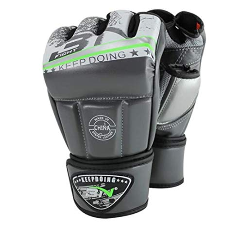 Boxhandschuhe Boxsack Erwachsene, Die Muay Thai MMA Handschuhe Open Fingers Sparring Martial Arts Training Fäustlinge Fight Wushu Handschuhe 12Oz Einpacken