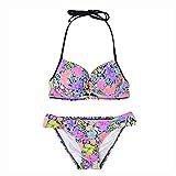 FOLA Bikini de Moda Traje de baño de Bikini para Mujer Mujeres Swimsuits Halter Top Top Dos Pieza BAÑO BAÑO Tie Lado TRIANO TRIANO Bikini Beach Vacaciones DE Vacaciones Bikini Set Bañador