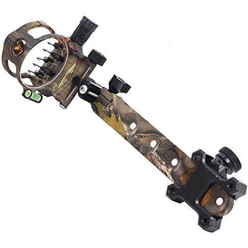 TcooLPE 5-Pin 0.019 Fiber Optics Bow Sight - Adjustable Aluminum Archery...