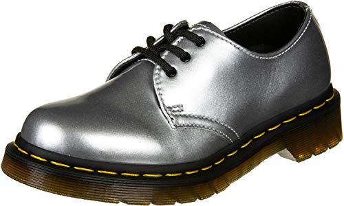 Dr.Martens Damen 1461 Vegan Chrome Paint Metallic Synthetic Silver Schuhe 37 EU