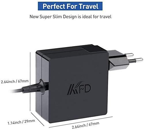 KFD 65W Laptop Netzteil Ladegerät Ladekabel für Asus R556 R556L R556LA X751 X751M X751L F554LA X751LX X751LAV X751S X751NA X751N F555 F555L F551C F555LA F555UA F551 X551 X551M X551MA X551C 19V 3,42A