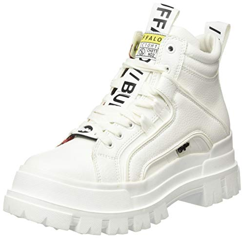 Buffalo Damen ASPHA NC MID Sneaker, White, 40 EU