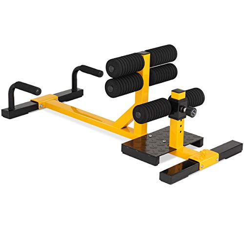 Goplus 3-in-1 Multifunctional Squat Machine Deep Sissy Squat & Leg Exercise Squat for Home Gym Fitness Equipment