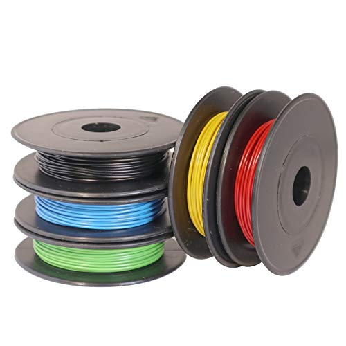 LiYV Schaltlitzen-Sortiment, 0,14mm², flexibel, 5x10m auf Kunststoffspulen, 5 Farben