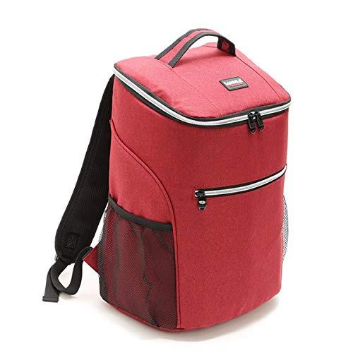 Select Zone Mochila de refrigeración aislada para pícnic de 20 l, para enfriar hielo, caja de almuerzo, bolsa para contenedores de alimentos, para acampar, barbacoa al aire libre, color rojo