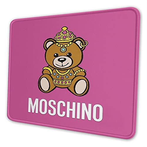 Super Cute Moschino Non-Slip Mousepad Gaming Computer Mouse Pad Desktop Laptop Mouse Pad with Stitched Edge 10x12 in