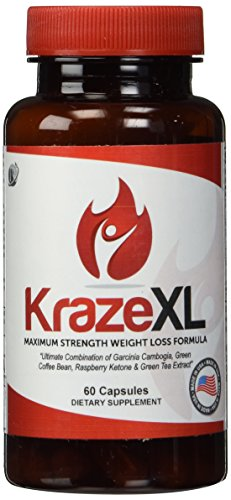 BEST Fat Burner, Metabolism Booster, Appetite Suppressant & Energy Enhancer, Ultimate Weight Loss Thermogenic Supplement For Men & Women (30 Day Supply of KrazeXL)