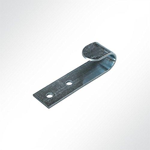 LYSEL Flachhaken, (BxL) 20x72mm in grau (10 Stück)