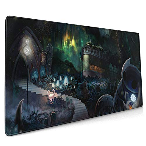 Hollow Knight Game Extended Gaming Mouse Mat,DIY Custom Professional Mouse Pad (35.5x15.8In),Stitched Edges,Desk Pad Keyboard Pad Mat,Water-Resistant,Non-Slip Base,For Work & Gaming,