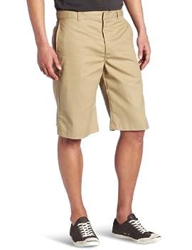 Dickies Young Men s Flat Front Short Khaki 34