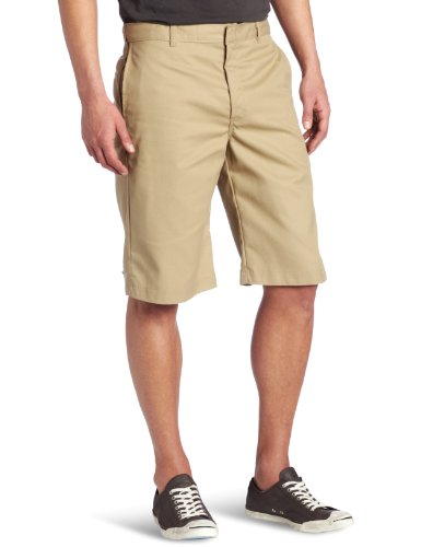 Dickies Young Men's Flat Front Short, Khaki, 34