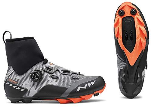 Northwave Raptor GTX 2020 - Zapatillas de Ciclismo para Invierno, Color Gris, Negro y Naranja, Reflective Orange Lobster, 47 EU