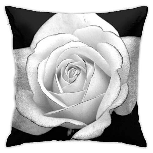 Fundas de Almohada, Fundas para Cojines de Lino Funda de Almohada Rosa Blanca Funda Cojin Decorativa de Casa para sofá Dormitorio Coche,45x45CM
