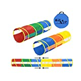 Hide N Side 2-Pack 6ft/12ft Crawl Through Play Tunnel Toy, Pop up Tunnel for Kids Toddlers Dogs Babies Infants & Children Gift Indoor & Outdoor Tube