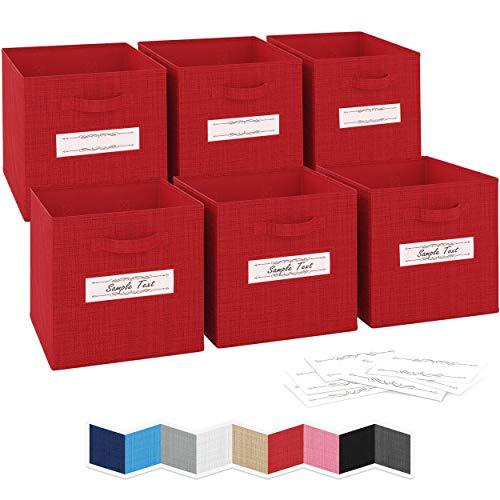 NEATERIZE 13x13x13 Large Storage Cubes - Set of 6 Storage Bins...