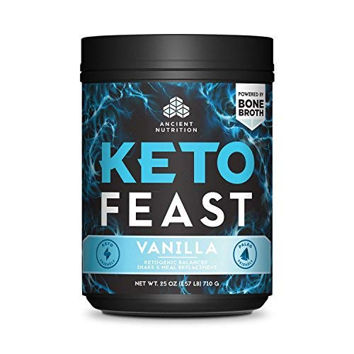 Ancient Nutrition KetoFEAST Powder, Vanilla, 15 Servings - Keto Diet Meal Replacement with Ketogenic Superfoods for Ketosis and Energy 5
