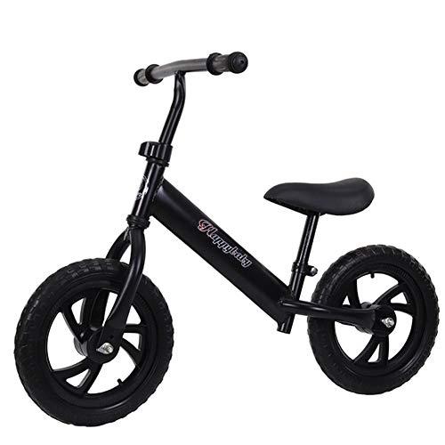 QqHAO Kinder Fußlose Balancen-Fahrrad, Baby-Wanderer-Spielzeug-Auto ist geeignet für Jungen und Mädchen 1-7 Jahre alt (Rot, Blau, Weiß, Schwarz),Schwarz