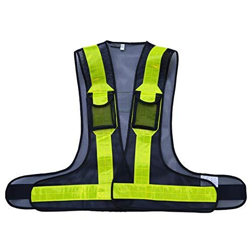YJYQ Reflektorweste, Einstellbar Warnweste Sicherheitsweste Reflektierende Signalweste für Erwachsene/Kinder Radfahren,Laufen,Joggen im Dunkeln