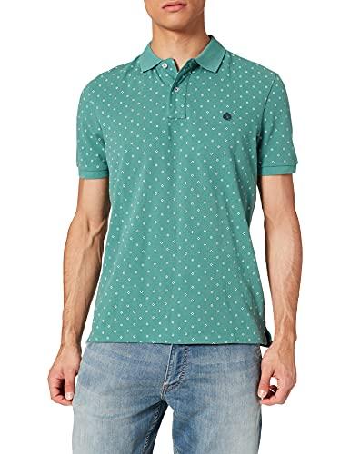 Springfield Polo Camiseta, Estampado Verde, M para Hombre