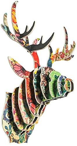 WYKDL Taxidermia Cabeza de los Ciervos de cartón Reciclado de cartón Animal Safari