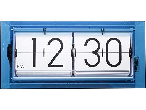 NeXtime Wecker, Metall und Kunststoff, Blau, Ø 36 cm