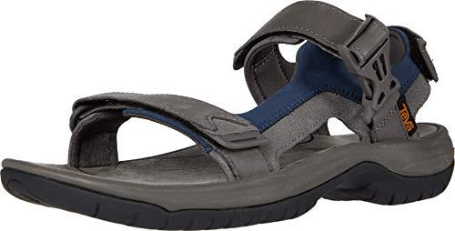 Teva Men's TANWAY MensTANWAY Leather Sport Sandal, Dark Gull Grey, 8 Medium US