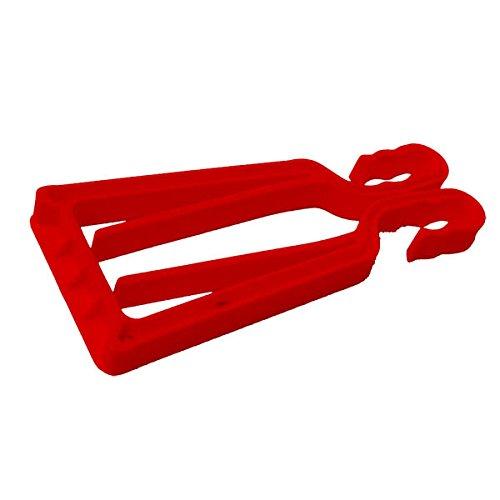 Porte-skis et bâtons KlipSki en rouge (la paire) – rapide et simple d'emploi, pour les experts comme pour les bambins