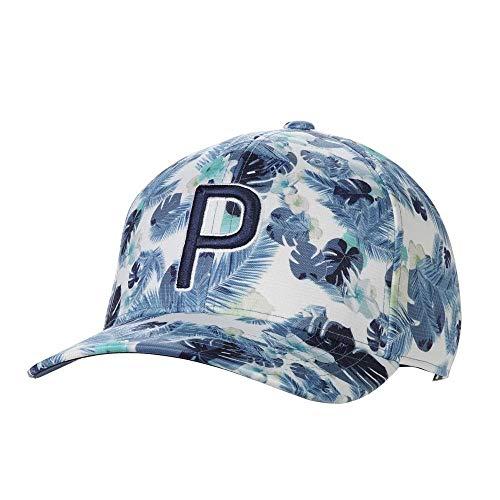 Puma Golf 2020 Men's Monoline Adjustable Hat (Men's, Puma Floral Pattern Snapback Cap Peacoat, One...