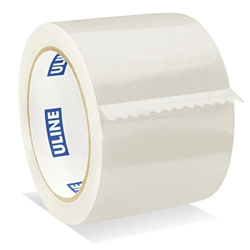 "Uline Packing Tape, 3"" x 55 Yd, 2.6 mil Crystal Clear Tape By (S-1893-4) Pack of 4"