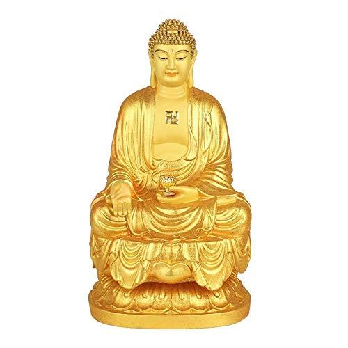 Accessori per La Casa Statua del Buddha Sakyamuni, Scultura della Statua del Buddha della Meditazione, Statua Fengshui in Rame