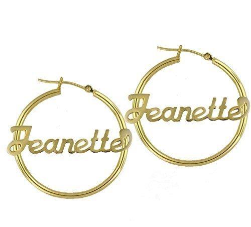 Name Hoop Earrings