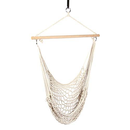 XUANLAN Chaise de dortoir balançoire Enfants Adulte Intérieur Extérieur Extérieur Chaise à Bascule Coton Net Hamac Swing
