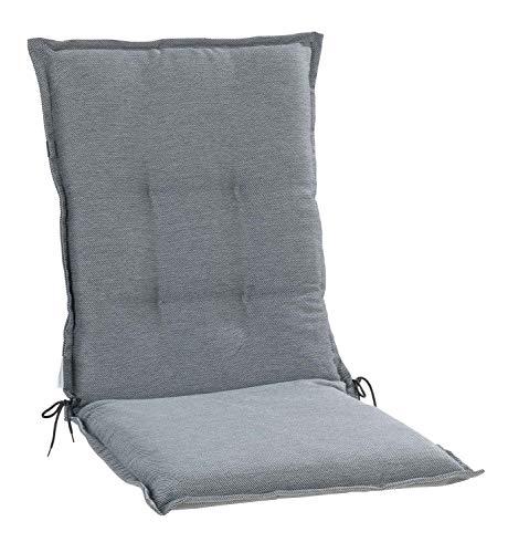 Nicht Zutreffend Sesselauflage Sitzpolster Gartenstuhlauflage für Mittellehner | 50 cm x 110 cm | Hellgrau | Polyester