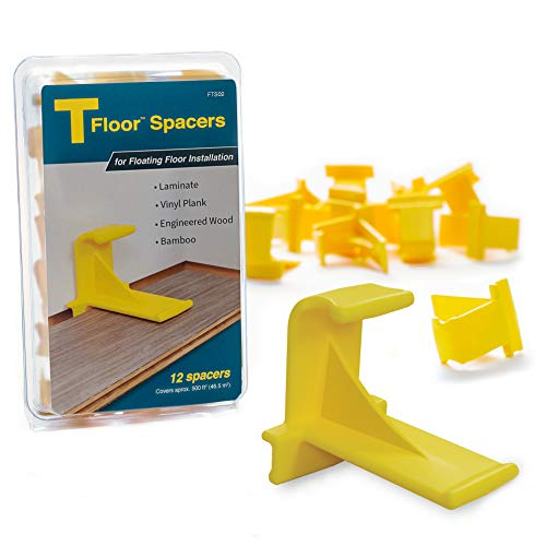 TFloor Spacers | for Laminate Wood Flooring, Vinyl Plank, Hardwood & Floating Floor Installation