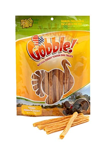 Gobble! 6-Inch Turkey Tendon for Dogs, Made in...