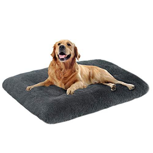 MSRNSIY Plüsch HundeBett Mittelgroße Hunde Hundesofa Waschbares Super Weiches Hundekorb Hundekörbchen mit Rutschfestem Kissen Haustierbett große Hunde