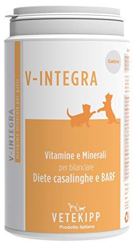 V-Integra Integratore Gattino Made in Italy 200 Gr Vitamine Dieta Casalinga Naturale Ossa Pelliccia Cartilagini più Sani Crescita Equilibrata