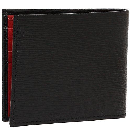 [サルヴァトーレ・フェラガモ]折財布メンズ66A0650685986007ブラック/レッド[並行輸入品]