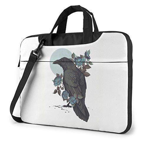 DJNGN Laptop Shoulder Bag Laptop Case 13 Inch, Crow On The Forks Computer Sleeve Cover, Business Briefcase Protective Bag
