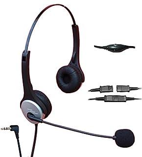 Voistek Call Center Telephone Headphone With Nc Microphone Vm Controls For Cisco Linksys Spa Polycom