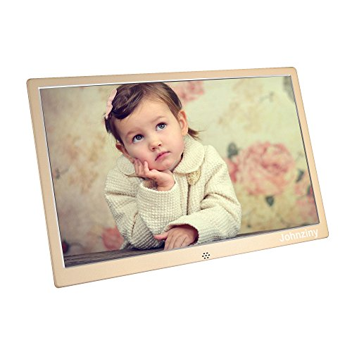 13.3 inch Digital Picture Photo Frame 1366x768 720 1080P Picture Video Player, Support USB Drives SD/MMC/MS Card, with Remote Control/Calendar/12 Languages/Clock Alarm Functions Digital Frames Picture