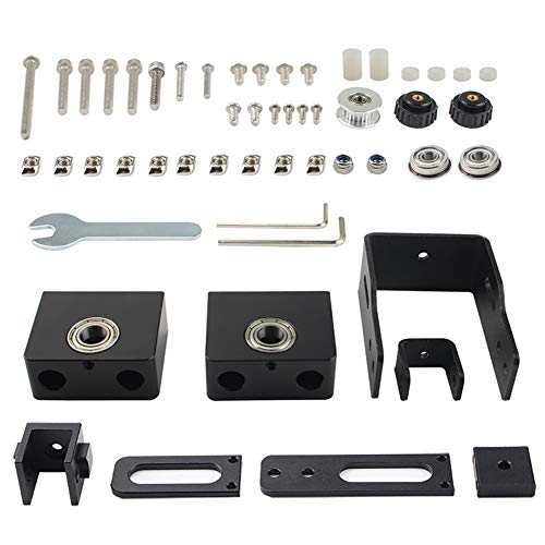 JVSISM 3D Printer Accessories Ender-3 CR-10 XY Axis Synchronous Stretch Tensioner Screw Fixing Seat Kit