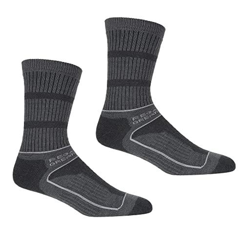Regatta Samaris Damen-Socken für 3 Jahreszeiten., Damen, Socken, RWH045, Briar/LightSteel, 39-41